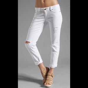 Paige white destroyed boyfriend jeans